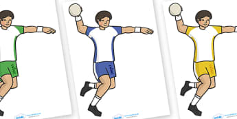The Olympics Editable Images Handball - Handball, Olympics, Olympic Games, sports, Olympic, London, images, editable, event, picture, 2012, activity, Olympic torch, medal, Olympic Rings, mascots, flame, compete, events, tennis, athlete, swimming