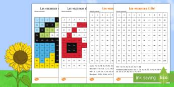 Coloriages magiques : Les vacances d'été - coloriages magiques, nombre, couleurs, nombres, coloriage, motricité fine, été, maths, activité,
