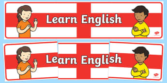 Learn English Banner