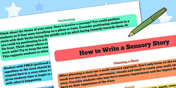 How to Write a Sensory Story - sensory story, stories, writing