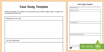 Case Study Template Young People & Families Case File Recording Template - Young People & Families Case File Recording, referral, chronology, contents page,buddy system, safeg