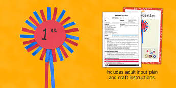 Race Rosettes Craft Adult Input Plan and Craft Pack - race, rosetted, craft, adult input, plan, craft, pack