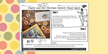 Board Game Designing Activity to Support Teaching on Charlie and the Chocolate Factory