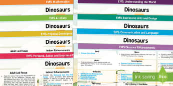 EYFS Dinosaurs Lesson Plan and Enhancement Ideas - dinosaur, lesson plan, EYFS