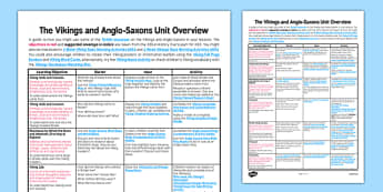 Vikings and Anglo-Saxons Planning Overview - planning, overview