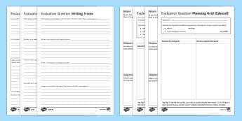 EdExcel RS GCSE Evaluation Question  Writing Frames Pack