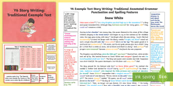Y6 Story Writing: Traditional Model/Example Text - Example Texts Y6, genre, WAGOLL, exemplar, non-fiction, text, text features, SPaG, GPS, example, exe