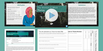 The Woman in Black Themes Resource Pack - The Woman in Black, themes, revision, study, pack, resources, group, ks3, prose, modern, gothic