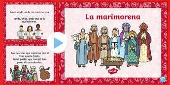 La Marimorena Christmas Carol Lyrics PowerPoint