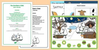 Quiet Time Box - The Gruffalo's Child, Julia Donaldson, winter, snow, quiet, Gruffalo