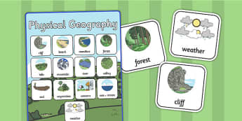 Physical Geography Vocabulary Poster - vocabulary, geography