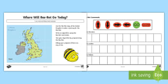KS1 Create and Debug Programs Shape Pictures Activity Sheets - Curriculum Aims, Computing, algorithm, Worksheets, instructions, sequence, logical thinking, 2D shap