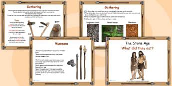 Stone Age Food Lesson Flipchart - stone age, food, history, game