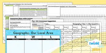 PlanIt - Geography KS1 - Our Local Area Unit Assessment Pack - planit, assessment, pack