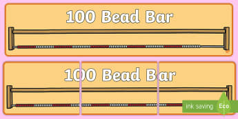 100 Bead Bar Display Banner - beads, bead string, string, bead string line, interactive bead bar,