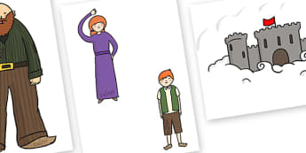 Golden Time Cut-out Image Set (Beanstalks and Castles) - Golden time, golden rules, golden time display, rules, behaviour, golden rule, rule, classroom rules, behaviour management