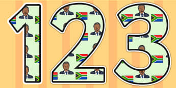 Nelson Mandela Themed Display Numbers - nelson mandela, display numbers, themed number, classroom number, numbers for display, numbers, numbers for display