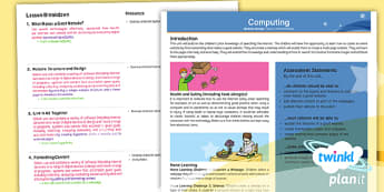 PlanIt - Computing Year 6 - Website Design Planning Overview - e-safety, research, website, webpages, images, www, internet