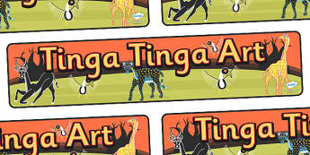 Tinga Tinga Art Display Banner - tinga tinga art, display, banner, sign, poster, tinga tinga, art, design