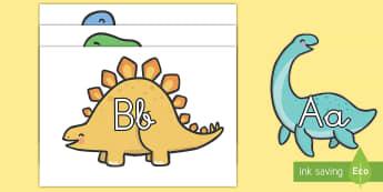 El abecedario: Dinosaurios - Dinosaurios, pre-historia, dinos, tyranosaurio, estegosaurio, triceratops, proyectos, aprendizaje ba