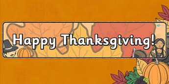 Thanksgiving Display Banner Alt - displays, banners, visual
