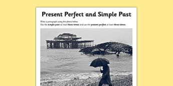 Present Perfect Simple Past Application Activity Sheet - GPS, tense, past, worksheet