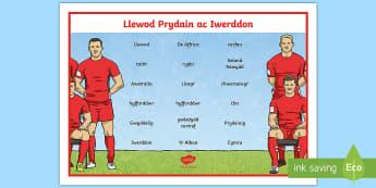 Mat Geiriau Llewod Prydain ac Iwerddon Mat Geiriau - Welsh / Cymraeg-Welsh - Taith y llewod, lions, rugby, rygbi, chwaraeon, sports, Cymru, Wales, British, Prydain,Welsh