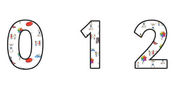 Movement Display Numbers - movement, movement display, movement themed numbers, movement numbers, movement cut out numbers, movement themed numbers, 0-9