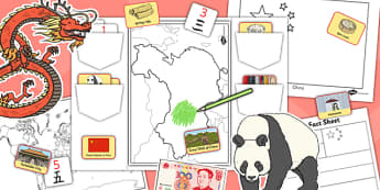 China Lapbook - china, lapbooks, activity, country, booklet
