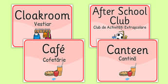 School Room Signs Romanian Translation - romanian, languages, signs, EAL, school room, display, display signs, school, room
