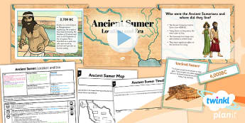 PlanIt History UKS2 Ancient Sumer Lesson 1 Location and Era Pack