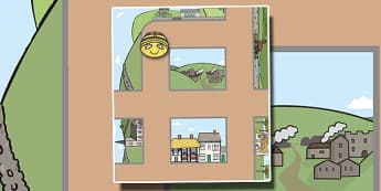 Bee Bot Mat Countryside Themed - beebot, countryside, map, direction