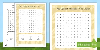 New Zealand Minibeasts Word Search - New Zealand, minibeasts, insects, bugs, minibeast, year 1, year 2, year 3, science, nature, living w