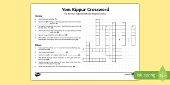Yom Kippur Crossword