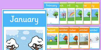 Months of the Year Weather Posters - months, year, weather, poster, display
