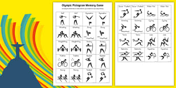 Olympic Sports Pictogram Memory Game