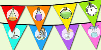 World Science Day Bunting - displays, display, visual, visuals