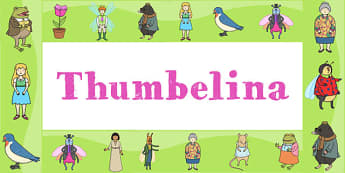 Thumbelina Display Borders - stories, story books, borders