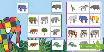 Matching Cards and Board to Support Teaching on Elmer - elmer, elmer matching game, elmer picture matching activity, elmer matching cards and boards, sen elmer activity, sen