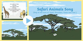 Safari Animals Song PowerPoint