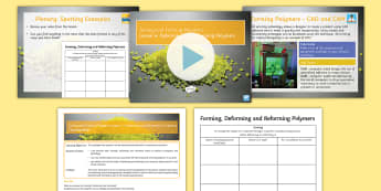 Manufacturing Processes - Joining and Forming Polymers: Lesson 4 Deforming and Reforming Lesson Pack - Key Stage 4, Design & technology, design process, GCSE, design project, iterative design, deforming,