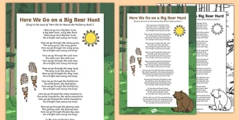 Here We Go on a Big Bear Hunt Song