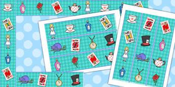 Alice in Wonderland Display Borders - display, borders, alice