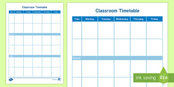 Classroom Timetable - End of Year/Back to School Australia, classroom, timetable, term,Australia