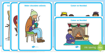 Winter Activities Display Posters-Spanish - Winter, KS2, activities, posters,Spanish