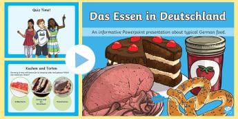 Deutsches Essen PowerPoint - Deutschland, Essen, Deutsches Essen, Deutschland, DAF, DAZ,German