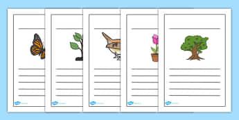 إطارات كتابة عن الحديقة - الحديقة، وسائل تعليمية، موارد تعليمية
