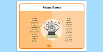 Roland-Garros Word Mat French - french, roland-garros, word mat, word, mat, stadium, french opens, french, france