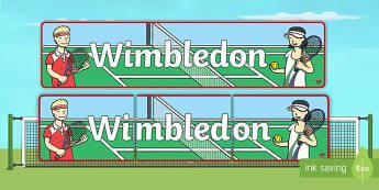 Wimbledon Display Banner - wimbledon, wimbledon banner, wimbledon display, tennis, tennis banner, sports, PE, wimbledon championships banner