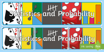 Statistics and Probability Display Banner-Australia - Australian Curriculum Mathematics Display Banners, statistics, probability, statistics and probabili